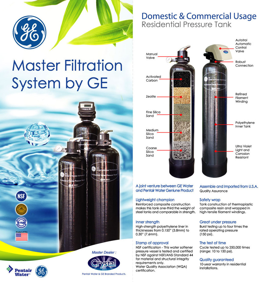 Ge Master Filtration System Water Filter Supplier Malaysia