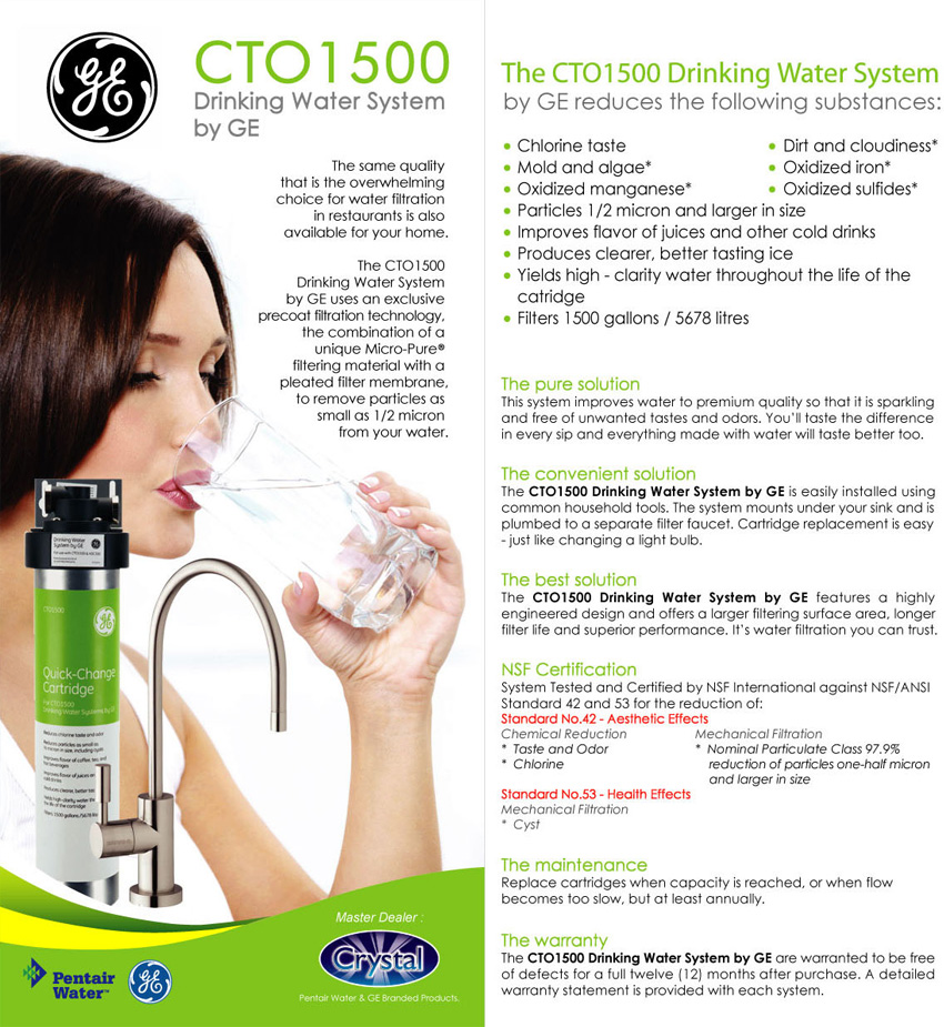 Ge drinking water system the cto1500 drinking water system by ge leaves vital minerals found naturally in water so you get the best tasting water possible publicscrutiny Gallery